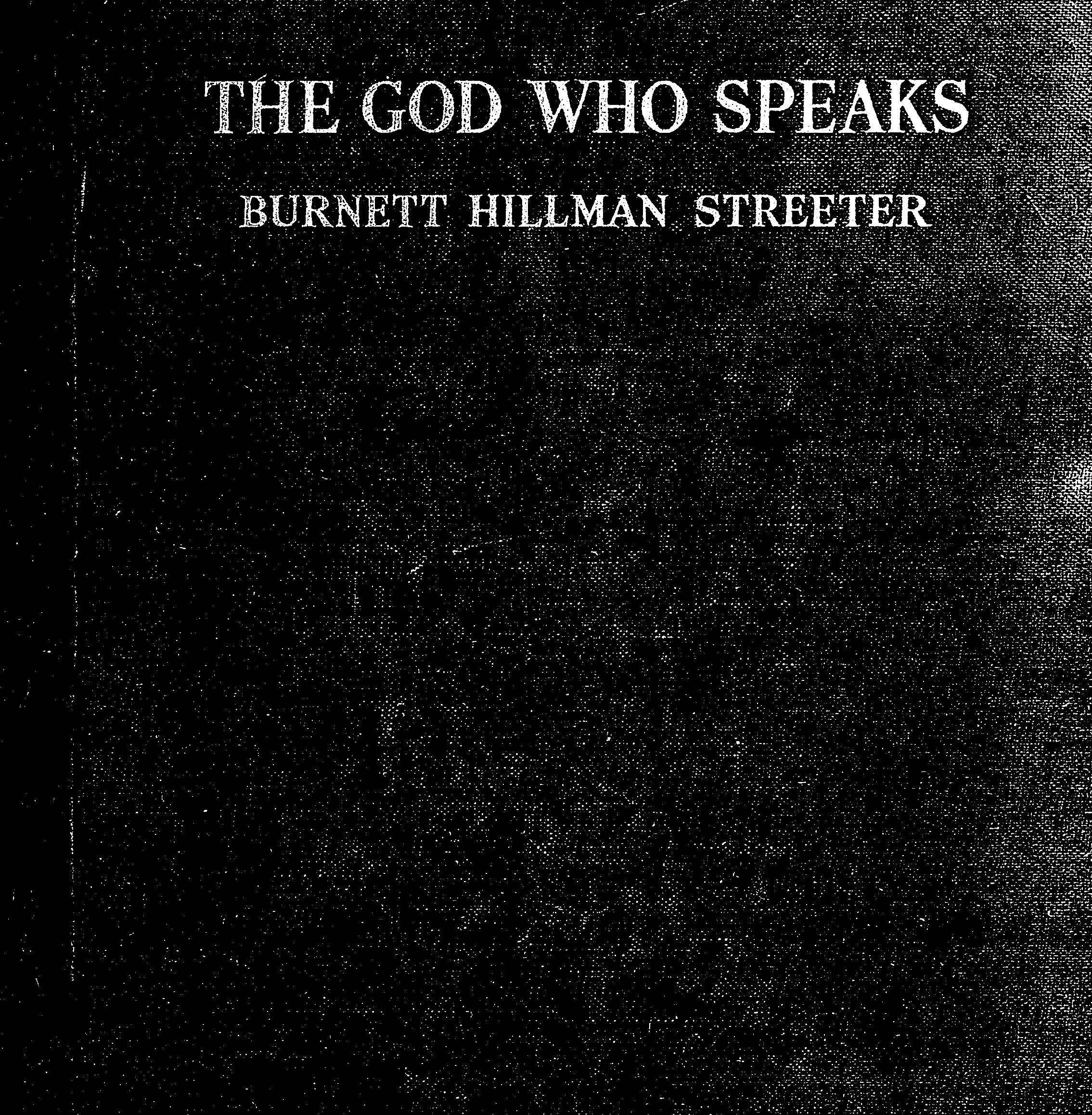 Cover of: The God who speaks